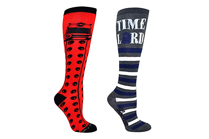a97bc5d4b682 Amazon.com  Doctor Who Socks Women   Girls (2 Pair) - Dr Who Dalek ...