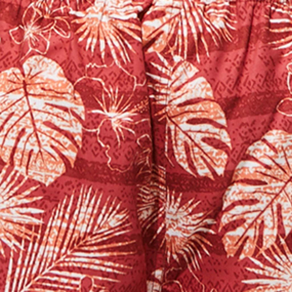 Leaves Printed Surfing Board Shorts Naladoo Summer Quick Dry Mens Swim Trunks