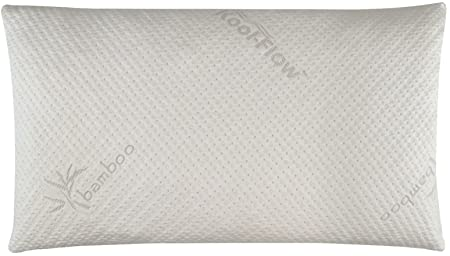 Snuggle-Pedic Bamboo Shredded Memory Foam Pillow with Kool-Flow Micro-Vented Cover
