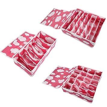 Cajas plegables organizadoras Colleer con separadores para la ropa interior, sujetadores, calcetines, corbatas y para juguetes, para armarios, dormitorios, ...