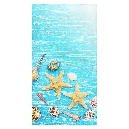 interestprint conchas estrella de mar Verano Azul Hawaii playa toallas de baño de toallas de mano