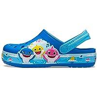 Kids' Fun Lab Baby Shark Band Clog | Slip On Shark Shoes for Kids