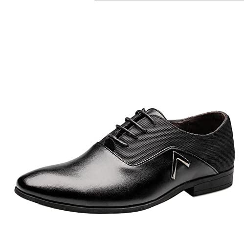 Men Pointed Toe Business Dress Formal Leather Shoes Flat Oxfords Loafers  Slip On 128068aa6592