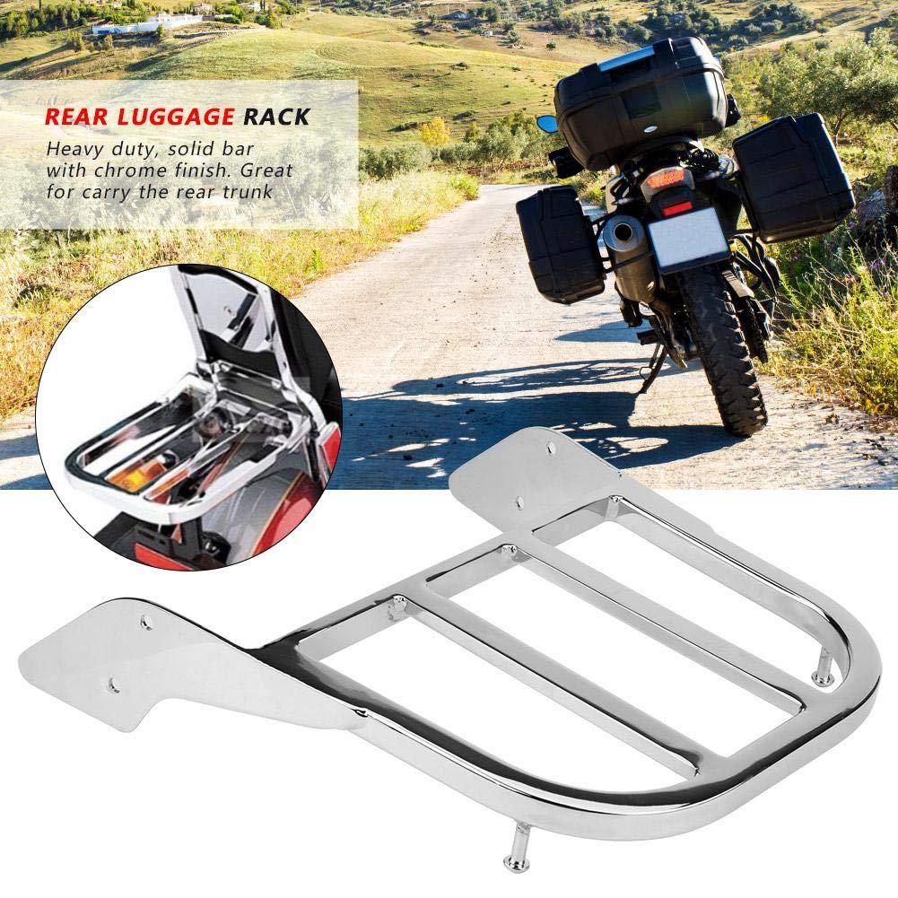 KIMISS Barras Posterior de Equipaje de la Motocicleta del Metal para VT750 C2 1997-2003 Cromo Plateado