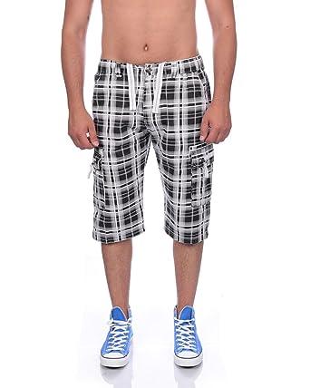088c1f10e701 Raff Taff Herren Karo Bermuda Shorts Cargohose für Mode bewußte Herren in  Grössen S M L XL RT 003 XXL  Amazon.de  Bekleidung