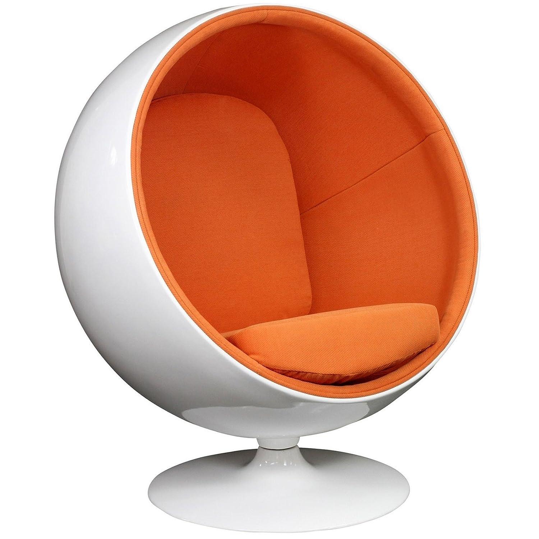 Merveilleux Amazon.com: Modway Eero Aarnio Style Ball Chair In Orange: Kitchen U0026 Dining