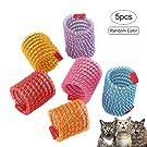 iSmarten Pet Wide Plastic Colorful Springs Cat Toys for Cat Kitten Pets (Random Color)
