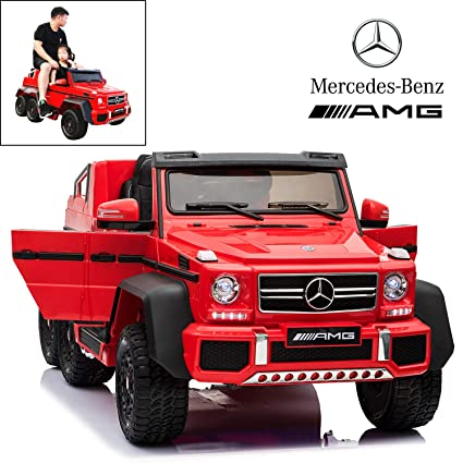 Mercedes Benz G63 >> Licensed Mercedes Benz Amg G63 6x6 Electric Ride On Car For Kids With 2 4g Remote Control 12v 6 Motors Parent Seat Openable Doors Leather Seat