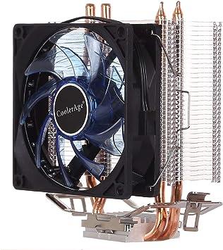 Ventilador de la computadora de enfriamiento Ventilador de la CPU ...