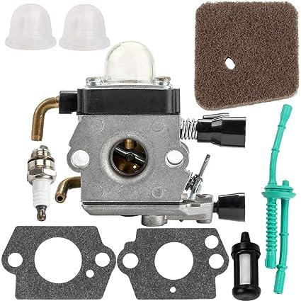 Amazon Com Fs45 Carburetor For Stihl Fs55 Carb Kit Fuel Air Filter