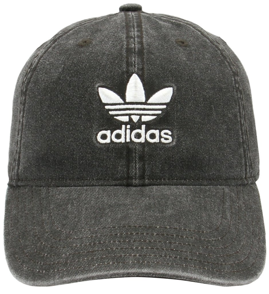 adidas Women's Originals Relaxed Fit Strapback Cap, Black Denim/White, One Size