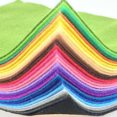 Craft Felt Bundle 40 pieces 9 x 9cm @ 2mm thick