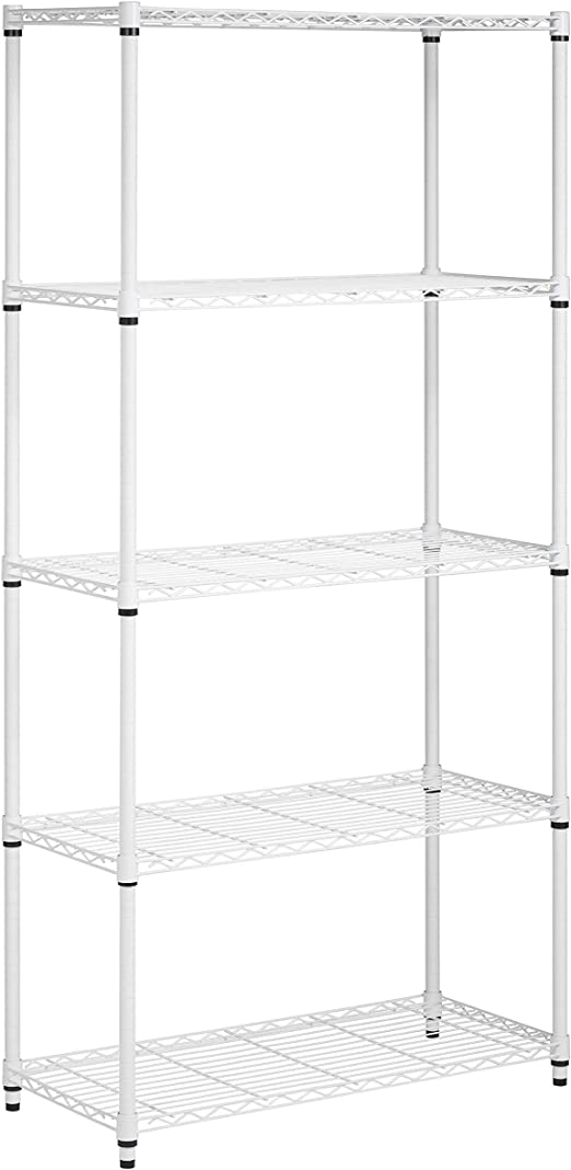 Honey Can Do Shf 01573 5 Tier Adjustable Shelving System 14 Inch By 36 Inch By 72 Inch White Amazon Ca Home Kitchen