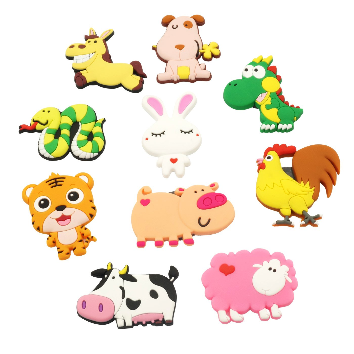 Fridge Magnets Magnetic Toys for Kids Cartoon Farm Animals Magnets Educational Toys Funky Animals Magnetic Toys for Toddler