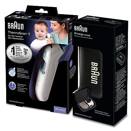 Braun Thermoscan 5 - Termómetro digital auricular + caja de protección
