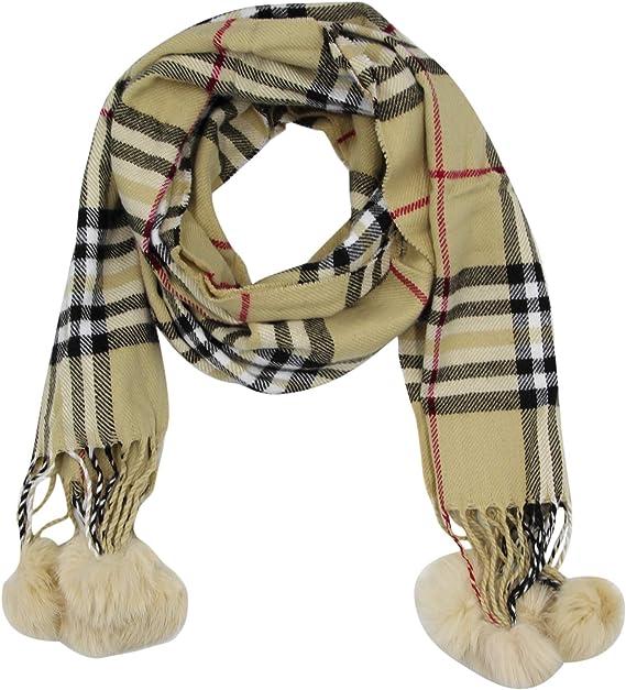 LASISZ Fashion Children Knitted Scarf Solid Color Thicken Winter Keep Warm Kids Boys Girls Neck Scarves,Beige