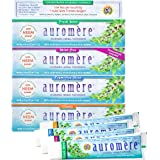 Auromere Ayurvedic Herbal Toothpaste, Variety - Vegan, Natural, Non GMO, Flouride Free, Gluten Free, with Neem & Peelu (4.16