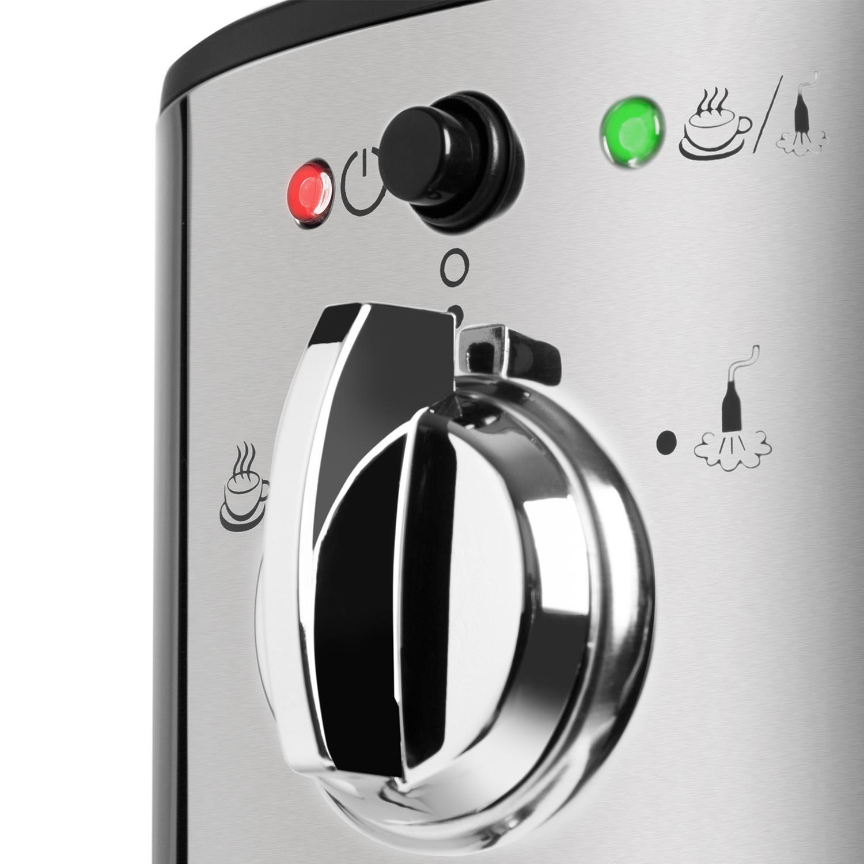 Klarstein Passionata 20 Máquina de café espresso • Cappuccino • Capacidad para 6 tazas • Depósito extraíble • Boquilla de vapor • Espumadora de leche ...
