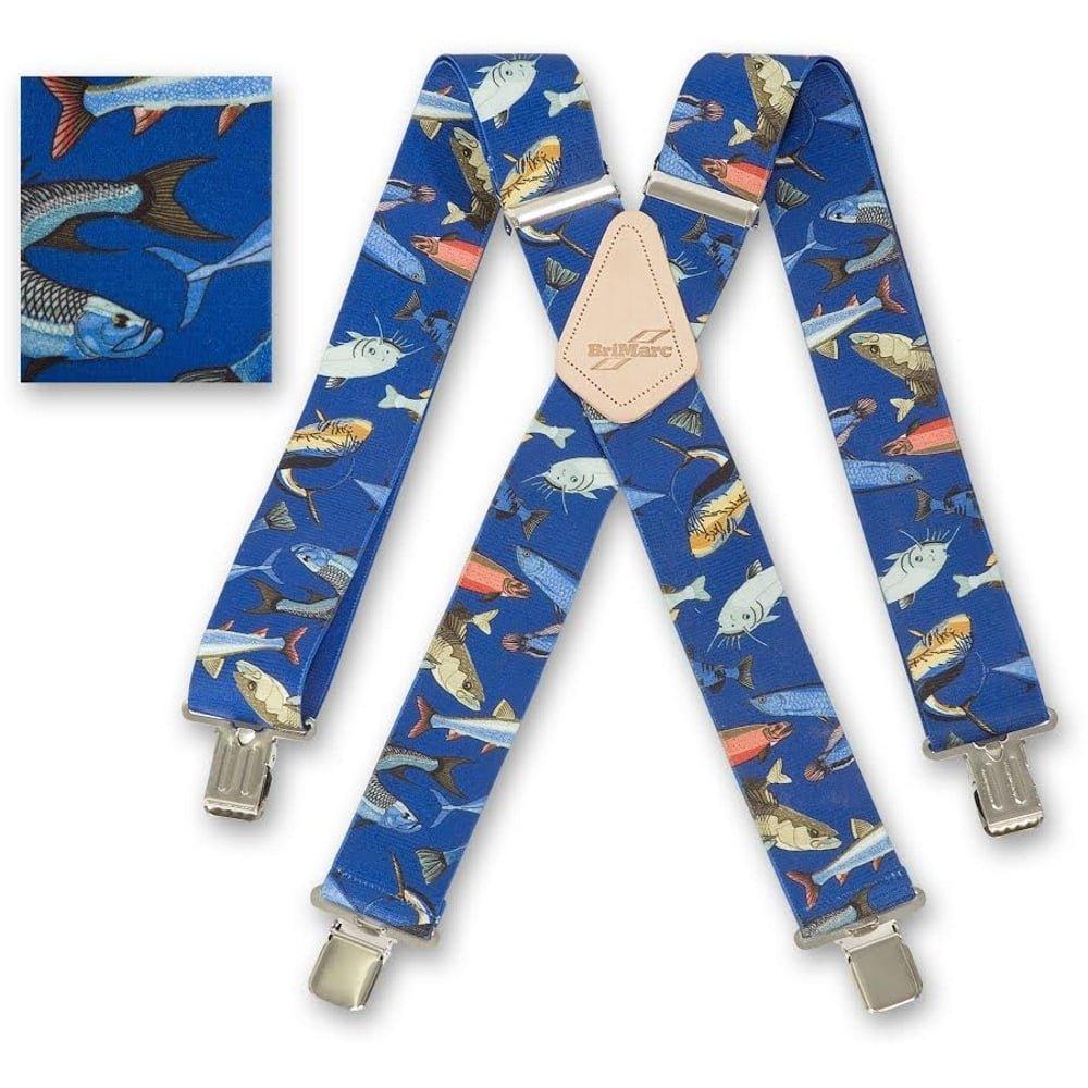 Homme Bretelles Bleu Pêche Poisson Brimarc Heavy Duty 5, 1cm 50mm de large à partir de M.k. outils 1cm 50mm de large à partir de M.k. outils