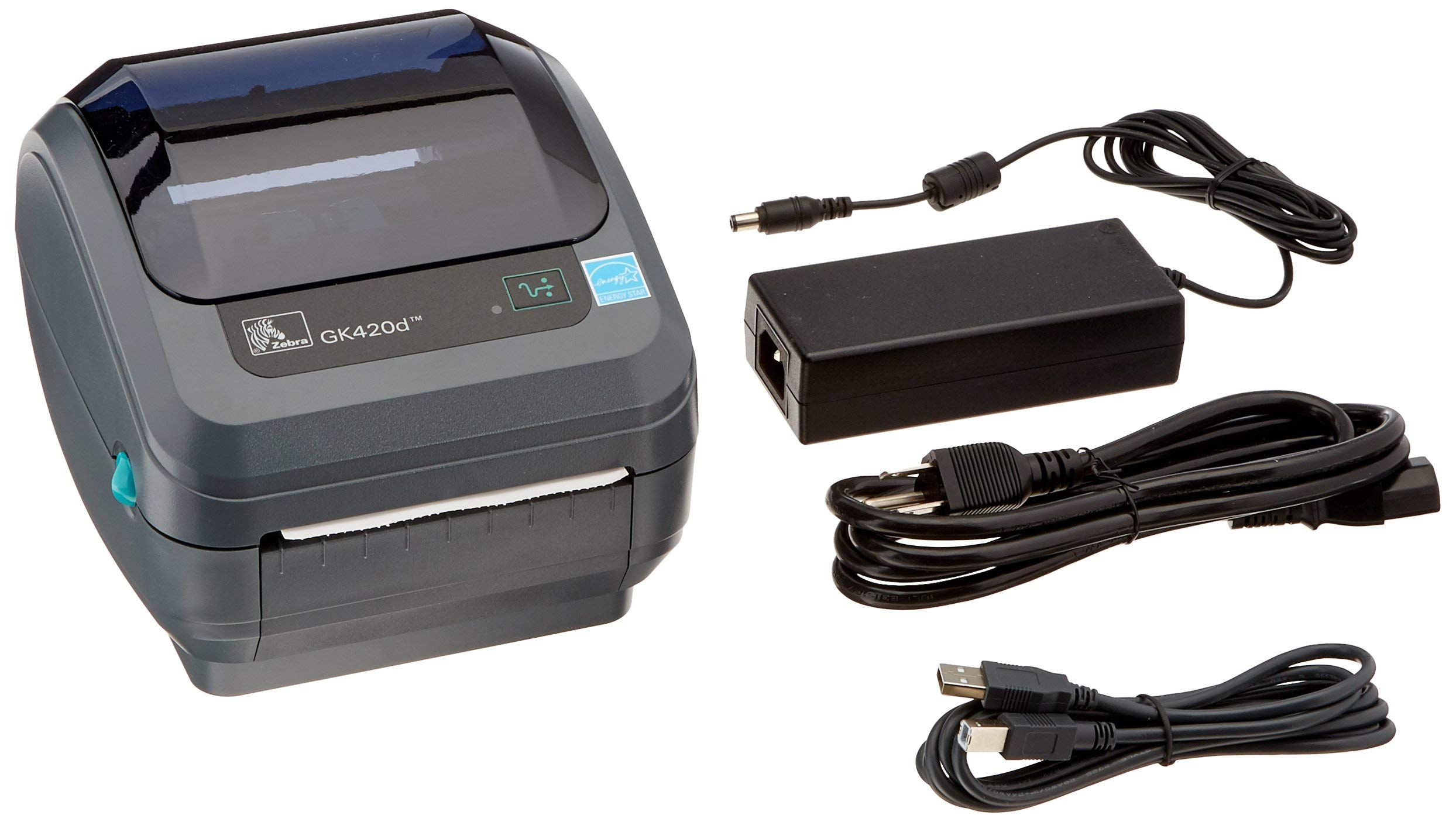 Zebra - GK420d Direct Thermal Desktop Printer for Labels, Receipts, Barcodes, Tags, and Wrist Bands - Print Width of 4 in - USB and Ethernet Port Connectivity (Renewed) by ZEBRA (Image #1)