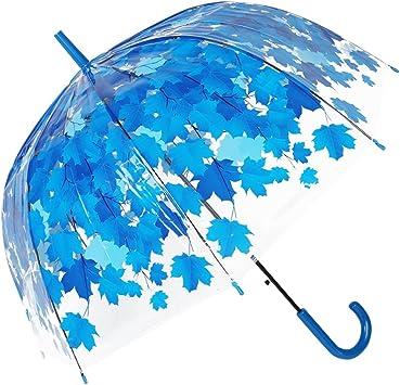 Regenschirm Glockenschirm transparent durchsichtig Fulton blau