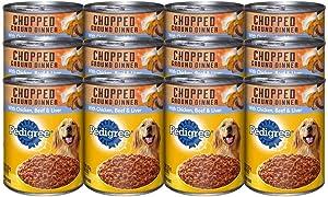 Pedigree Chopped Ground Dinner Wet Dog Food - Chicken, Beef & Liver - 13.2oz - 12pk - Chicken, Beef & Liver - 13.2 oz