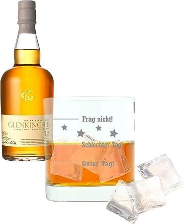 Glenkinchie Whiskey 605392 - Juego de 2 Botes de Whisky (Vaso Grabado, 12 años/años)