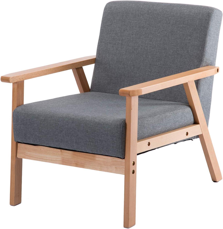DORAFAIR Retro Linen Fabric Chair