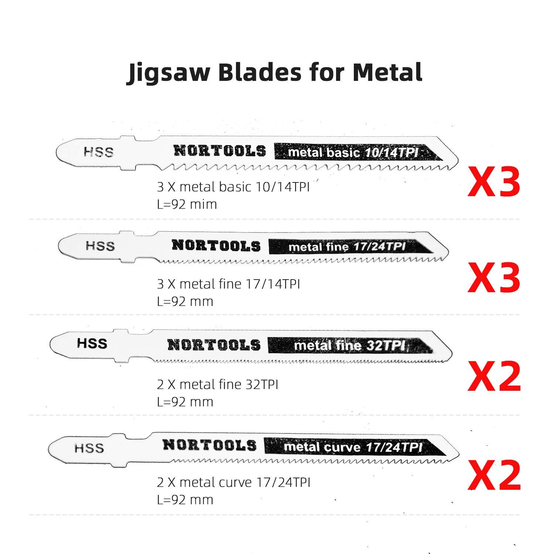 De mango T de acero de alta velocidad juego de cinta de sierra en curva sirve para madera corte eficiente r/ápido limpio los modelos adecuados incluyen Bosch DEWALT Majuegoa etc 10 PCS