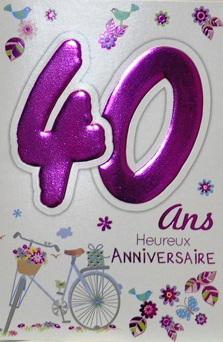 Age Mv 69 2032 Carte Anniversaire 40 Ans Femme Motif Velo Cadeau Fleurs Oiseaux Amazon Fr Fournitures De Bureau
