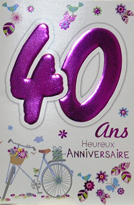 Age MV 69 - 2032 tarjeta cumpleaños 40 años mujer diseño ...