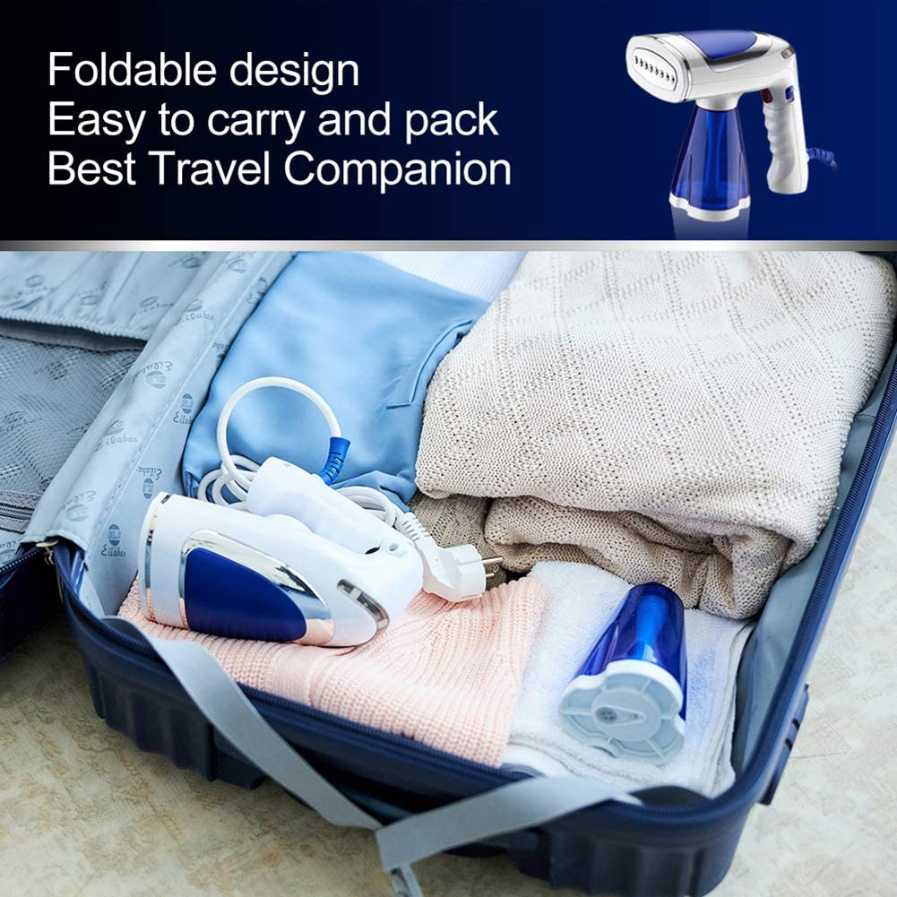 Foldable Fabric Steam Iron for Home and Travel. TOPLIVING 1600W Powerful Clothes Steamer with 200ml Big Capacity,110V Handheld Portable Garment Steamer for Clothing with Fast Heat