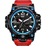 SMAEL Mens Digital Sports Watch Large Face...