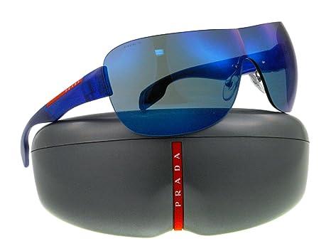 Amazon.com: Prada anteojos de sol SPS 05 N Azul mag9p1 sps05 ...