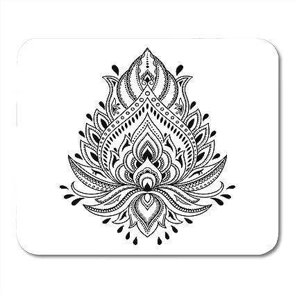 Amazoncom Emvency Mouse Pads Mandala Mehndi Lotus Flower Pattern