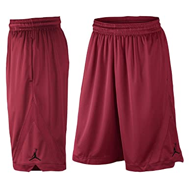 0f2848f3329b13 Image Unavailable. Image not available for. Color  Jordan Men s Triangle  Basketball Shorts Medium Gym Red Black