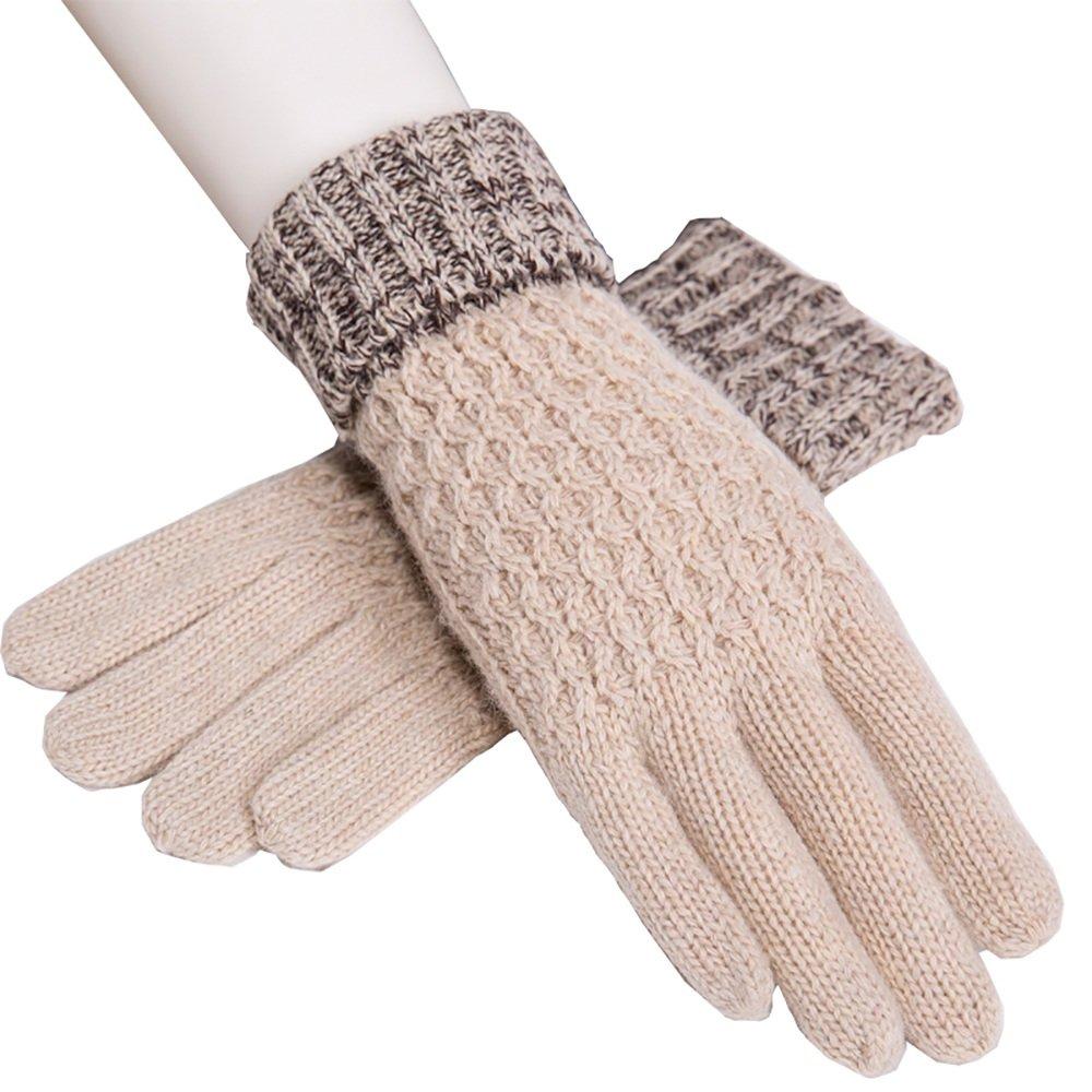 GYH gloves LJHA Guanti Donna Guanti Caldi Sportivi Invernali per la Scrittura/Lavoro / Ciclismo/Guida / Guida (Colore : B)