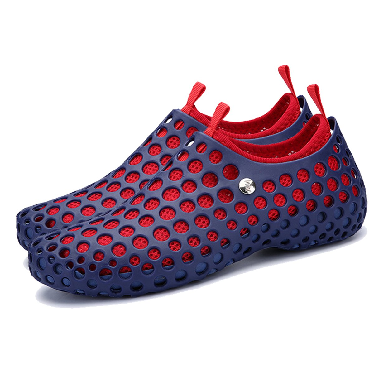 ba knife Men and Women Sandals Beach Shoes Lightweight Athletic Quick Drying Mesh Aqua Slip-on Shoes B075K6KMCS 10 B(M)US Women/ 8.5 D(M)US Men=EU/FR 41|Blue and Red