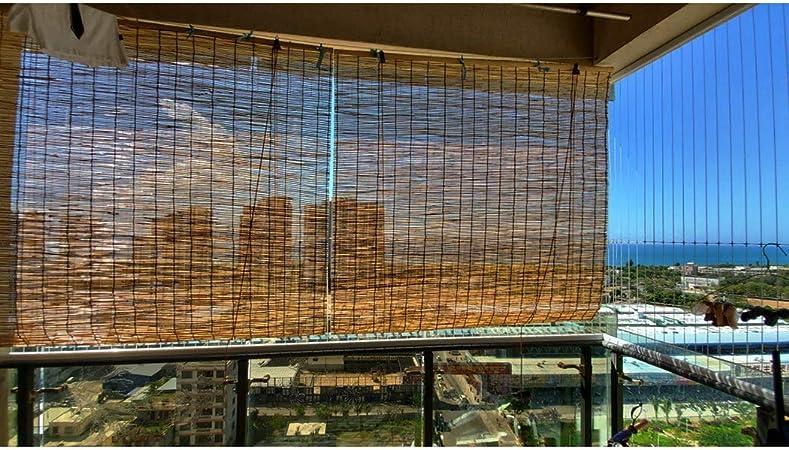 Filit Persiana Exterior Enrollable, persianas de bambú para Ventana, de caña, persiana Romana, Cortina de luz, Protector Solar, a Prueba de Humedad, Personalizable,50x60cm/20x24in: Amazon.es: Hogar
