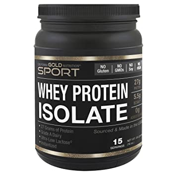 California Gold Nutrition, Whey Protein Isolate, Instantized, Ultra-Low Lactose, Unflavored