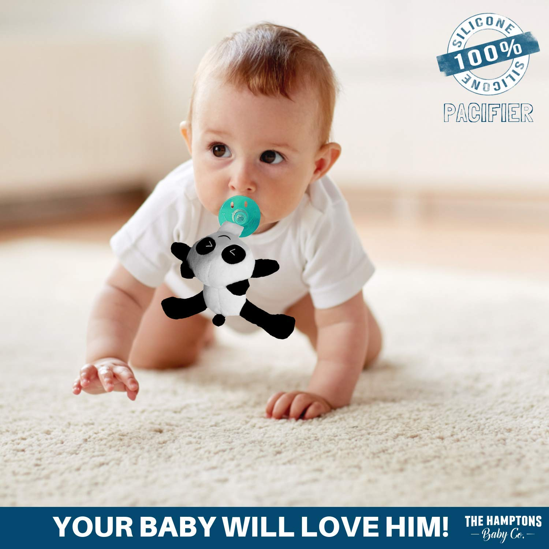 Amazon.com: Chupete para bebé con animal adjunto – peluche ...