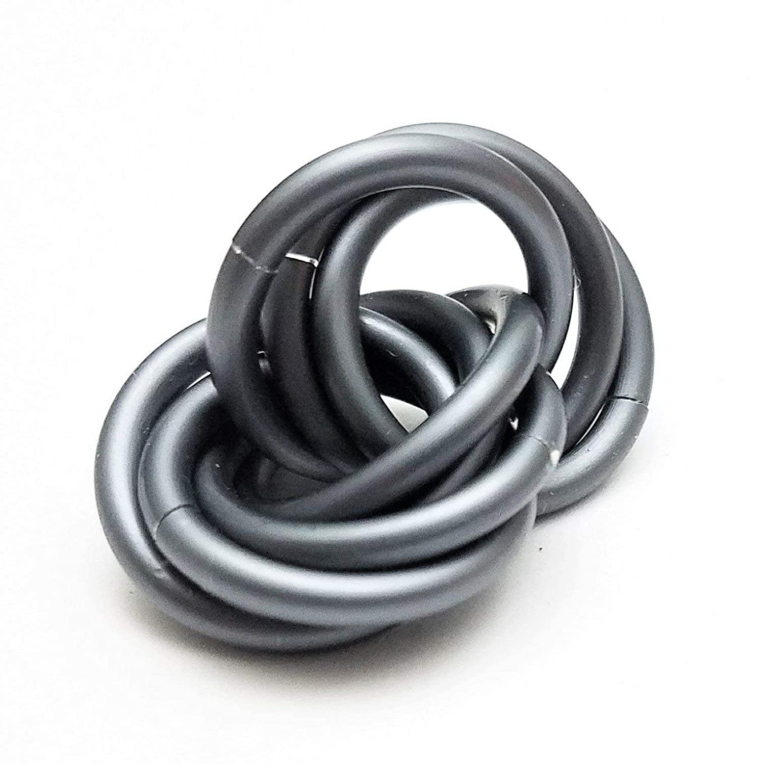 Half Möbii Slate: Small Mobius Hand Fidget Toy, Shiny Stress Rings for Restless Hands, Office Toy