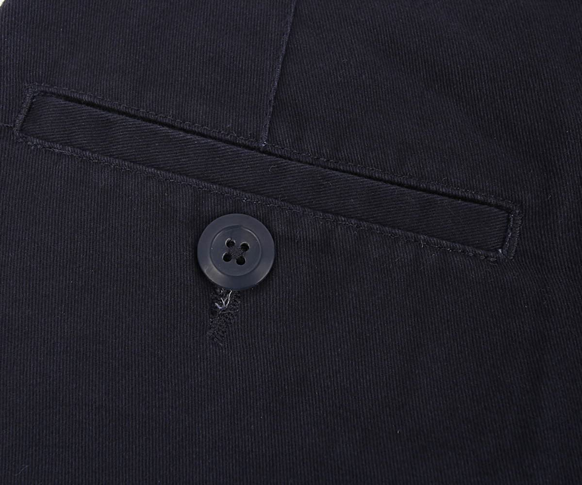 Bienzoe Boys School Uniform Long Sleeve Button Down Oxford Shirt