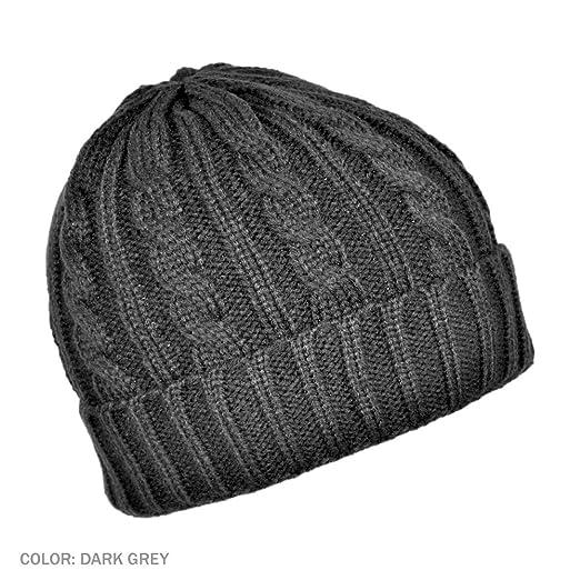 Jaxon Cable Knit Beanie Hat (Dark Gray) at Amazon Men s Clothing ... cfd969902e9