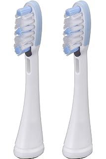 Panasonic WEW0908 - Cabezales con limpia-lenguas para cepillo de dientes eléctrico (2 unidades