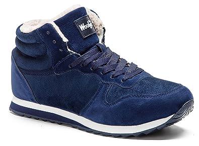Gaatpot Zapatos Invierno Botas Forradas de Nieve Zapatillas Sneaker Botines Planas para Hombres Mujer Azul EU 35.5=CN 36: Amazon.es: Zapatos y ...