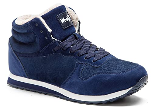 Gaatpot Herren Damen Stiefel Schneestiefel Hohe Sneaker Warm gefütterte Schnürstiefel Schuhe 36 48