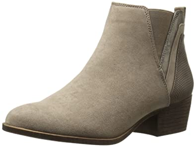 Madden Girl Women's Hooper Ankle Bootie, Taupe Fabric, ...