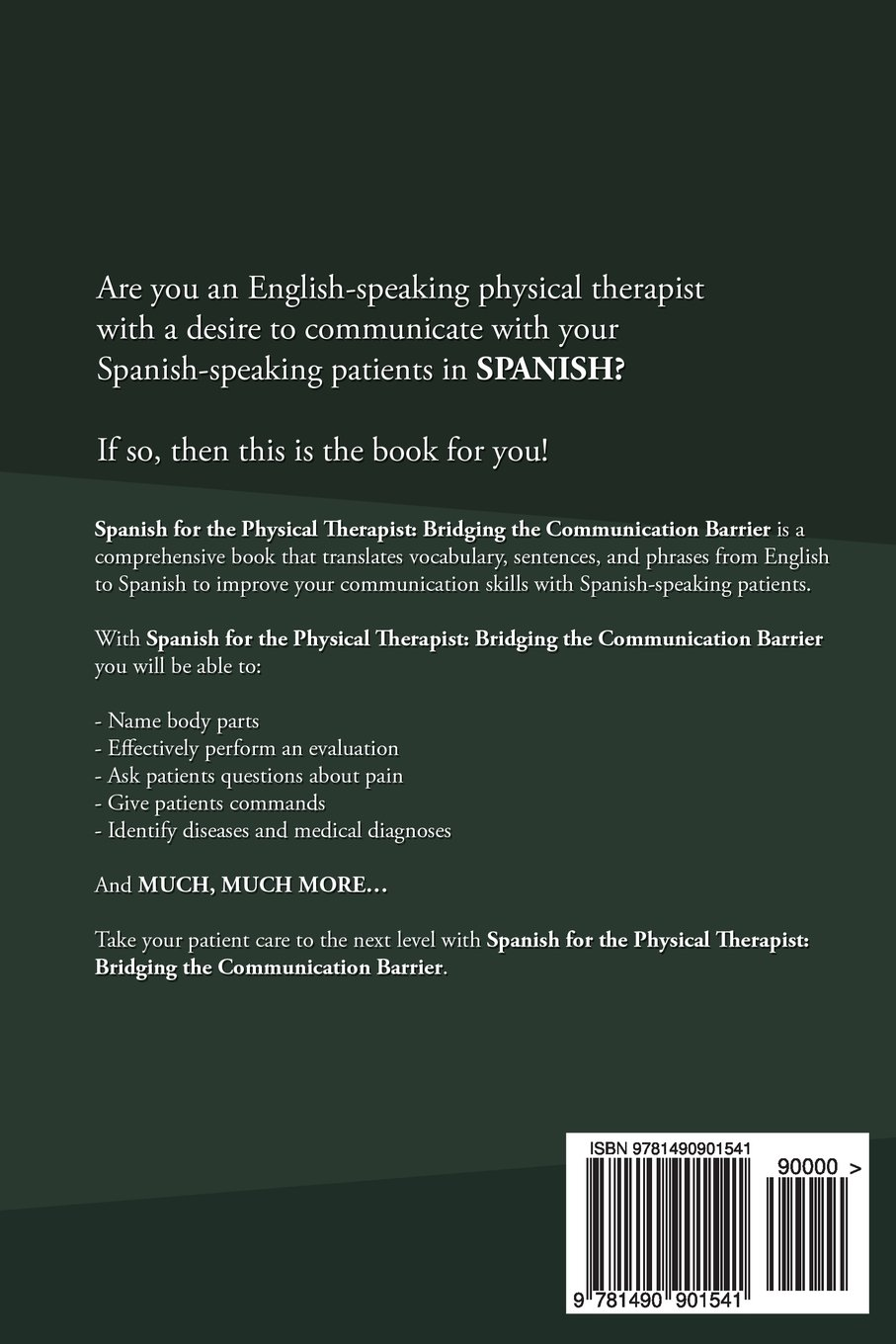 spanish for the physical therapist bridging the communication spanish for the physical therapist bridging the communication barrier spanish edition asiya nieves 9781490901541 com books