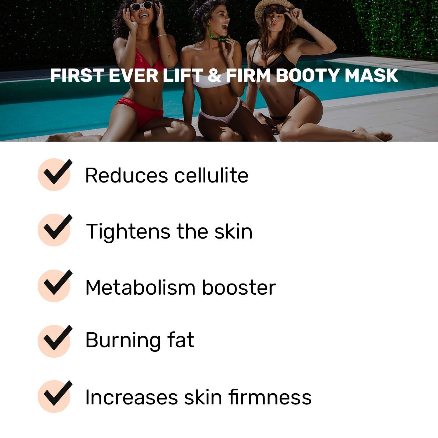 B-Tight Cellulite Removal Cream - Anti Cellulite Skin Firming Treatment for Butt & Thighs, Burns Fat, Lifts & Firms 3.8 oz by MAELYS Cosmetics (Image #2)